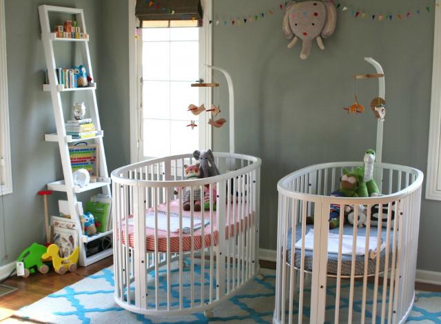 Stokke-Sleepi-Twin-Gray-Nursery - projectnursery